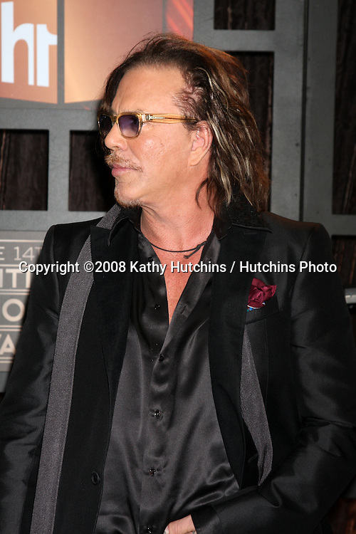 Mickey Rourke  arriving at the  Critic's Choice Awards at the Santa Monica Civic Center, in Santa Monica , CA on .January 8, 2009.©2008 Kathy Hutchins / Hutchins Photo..                .