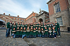 Sep. 1, 2012; Ushers made up of Ireland program students and staff pose for a group photo before the Mass of Thanksgiving at Dublin Castle...Photo by Matt Cashore/University of Notre Dame