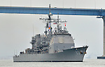 USS COWPENS (CG 63) departs San Diego 17 Sep 13 for a seven month scheduled deployment.