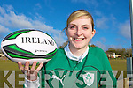 Currow girl Siobhain Fleming who has been selected for the Irish Rugby squad for the Six Nations Championship
