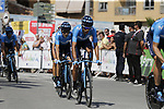 Movistar Team recon Stage 1 of La Vuelta 2019, a team time trial running 13.4km from Salinas de Torrevieja to Torrevieja, Spain. 24th August 2019.<br /> Picture: Eoin Clarke | Cyclefile<br /> <br /> All photos usage must carry mandatory copyright credit (© Cyclefile | Eoin Clarke)