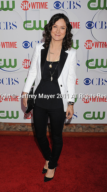 BEVERLY HILLS, CA - AUGUST 03: Sara Gilbert arrives at the TCA Party for CBS, The CW and Showtime held at The Pagoda on August 3, 2011 in Beverly Hills, California.