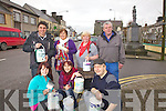 Cahersiveen prepares for the big clean up in conjunction with TV Show 'Dirty Old Town', pictured here front l-r; Lisa O'Shea, Suzan Turan, Seamus Collins, back l-r; T.K. Nassar, Helen O'Shea, Catherine Cournane & Kieran McCarthy.