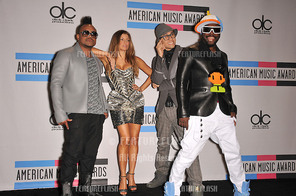 Black Eyed Peas with Fergie & Will.I.Am at the 2010 American Music Awards at the Nokia Theatre L.A. Live in downtown Los Angeles..November 21, 2010  Los Angeles, CA.Picture: Paul Smith / Featureflash