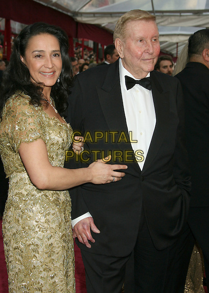 SUMNER REDSTONE & WIFE.The 80th Annual Academy Awards Arrivals held at the Kodak Theatre, Hollywood, California, USA,.24 February 2008..oscars half length.CAP/ADM/RE.?Russ Elliot/Admedia/Capital Pictures