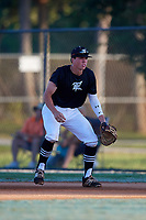Kellum Clark during the WWBA World Championship at the Roger Dean Complex on October 20, 2018 in Jupiter, Florida.  Kellum Clark is a first baseman from Jackson, Mississippi who attends Jackson Academy and is committed to Mississippi State.  (Mike Janes/Four Seam Images)