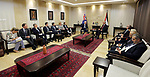 Palestinian Prime Minister Rami Hamdallah meets with Australian Prime Minister Malcolm Turnbull, in the West Bank city of Ramallah November 1, 2017. Photo by Prime Minister Office