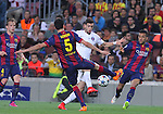 21.04.2015 Barceloona. UEFA Champions League, Quarter-finals 2nd leg. Picture show Javier Pastore in action during game between FC Barcelona against Paris Saint-Germain at Camp Nou
