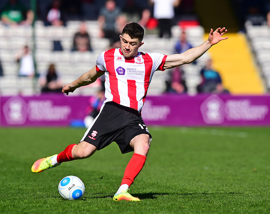 Lincoln City's Sean Long<br /> <br /> Photographer Andrew Vaughan/CameraSport<br /> <br /> Vanarama National League - Lincoln City v Forest Green Rovers - Saturday 25th March 2017 - Sincil Bank - Lincoln<br /> <br /> World Copyright &copy; 2017 CameraSport. All rights reserved. 43 Linden Ave. Countesthorpe. Leicester. England. LE8 5PG - Tel: +44 (0) 116 277 4147 - admin@camerasport.com - www.camerasport.com