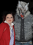 Lisa Geraghty and Colin Black pictured at the Halloween fancy dress party in the Rugby club. Photo:Colin Bell/pressphotos.ie