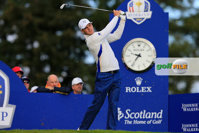 Martin Kaymer (EUR) during the Saturday Afternoon Foursomes of the 2014 Ryder Cup at Gleneagles. The 40th Ryder Cup is being played over the PGA Centenary Course at The Gleneagles Hotel, Perthshire from 26th to 28th September 2014.: Picture Thos Caffrey, www.golffile.ie: \27/09/2014\