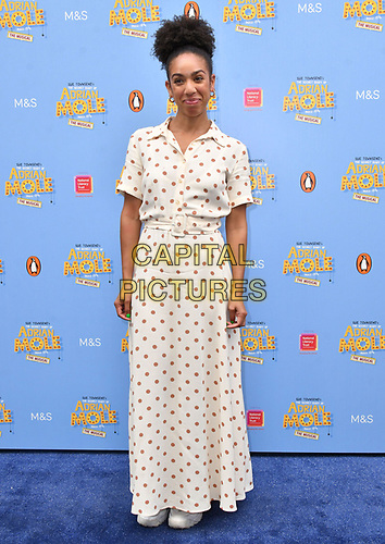 Pearl Mackie attends The Secret Diary Of Adrian Mole Aged 13 ¾ musical adaptation of Sue Townsend's comic fiction which opens in Adrian's 50th birthday year and follows the daily dramas and misadventures of the teenager's adolescent life, at Ambassadors Theatre, London, England on July 02, 2019.<br /> CAP/JOR<br /> ©JOR/Capital Pictures