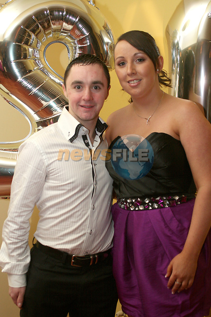 Karl Clinton with his girlfriend Martina Graham at his 21st in The Star and Crescent...Photo NEWSFILE/Jenny Matthews.(Photo credit should read Jenny Matthews/NEWSFILE)....This Picture has been sent you under the condtions enclosed by:.Newsfile Ltd..The Studio,.Millmount Abbey,.Drogheda,.Co Meath..Ireland..Tel: +353(0)41-9871240.Fax: +353(0)41-9871260.GSM: +353(0)86-2500958.email: pictures@newsfile.ie.www.newsfile.ie.FTP: 193.120.102.198.