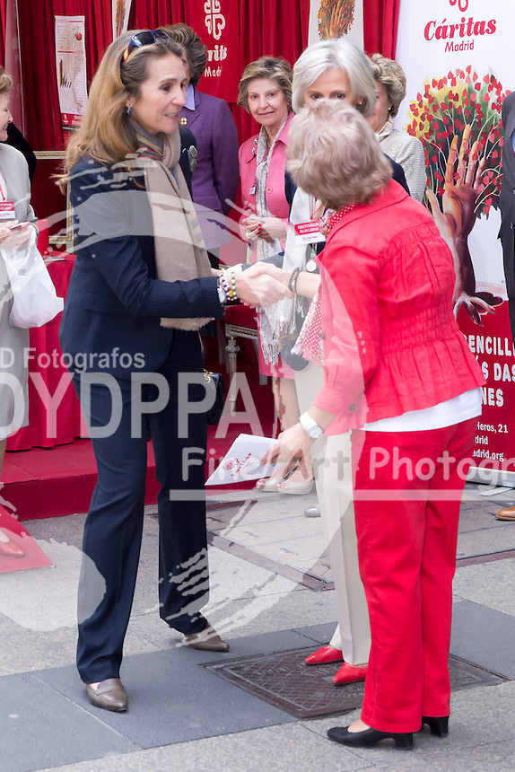 30.05.2013. Madrid. Spain. Princess Elena of Spain attends 'Charity Day', organized by Caritas Madrid. In the image: Princess Elena. (C) Ivan L. Naughty / DyD Fotografos//