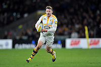 Elliot Daly of Wasps in possession. Aviva Premiership match, between London Irish and Wasps on November 28, 2015 at Twickenham Stadium in London, England. Photo by: Patrick Khachfe / JMP