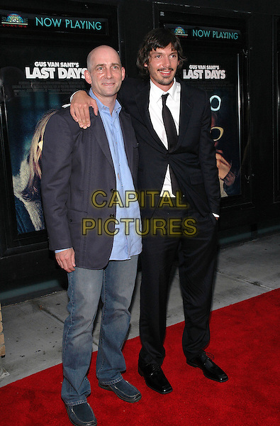 "DANY WOLF & LUKAS HAAS.The premiere of the new film, ""Last Days"", at The Sunshine Theater in Manhattan, New York, New York..July 19th, 2005.Photo Credit: Patti Ouderkirk/AdMedia.full length Danny arm over shoulder jeans denim black suit.www.capitalpictures.com.sales@capitalpictures.com.© Capital Pictures."