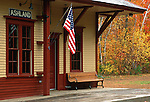 Train station, Ashland, New Hampshire, USA