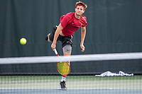 Stanford, CA - January 26th, 2019.  Stanford Cardinal Men's Tennis versus UCF at Taube Tennis Center.
