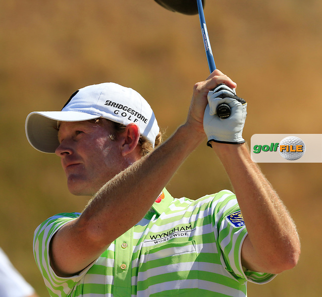 Brandt SNEDEKER (USA) tees off the 7th tee during Sunday's Final Round of the 2015 U.S. Open 115th National Championship held at Chambers Bay, Seattle, Washington, USA. 6/21/2015.<br /> Picture: Golffile | Eoin Clarke<br /> <br /> <br /> <br /> <br /> All photo usage must carry mandatory copyright credit (&copy; Golffile | Eoin Clarke)