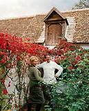 AUSTRIA, Schutzen Am Gerbige, chef Walter Eselbock with his wife Eveline in the garden at Taubenkobel Restaurant, Burgenland