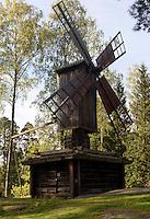 Windmühle, Freilichtmuseum auf der Insel Seurasaari, Helsinki, Finnland