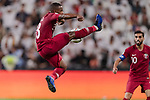 Assim Madibo of Qatar in action during the AFC Asian Cup UAE 2019 Semi Finals match between Qatar (QAT) and United Arab Emirates (UAE) at Mohammed Bin Zaied Stadium  on 29 January 2019 in Abu Dhabi, United Arab Emirates. Photo by Marcio Rodrigo Machado / Power Sport Images
