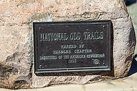 National Old Trails Marker on Route 66 in Needles California