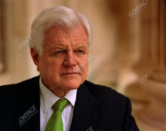 "Senator Edward ""Ted"" Kennedy, on the terrace of his Senate office, Washington D.C., USA, March 17, 2006"