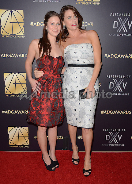 31 January  - Beverly Hills, Ca - Kelsey Reinhart, Amy Landecker. Arrivals for the Art Director's Guild 20th Annual Production Design Awards held at Beverly Hilton Hotel. Studios. Photo Credit: Birdie Thompson/AdMedia