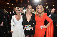 Jessica Peppel-Schulz, Sharon Stone and Barbara Schöneberger at the 21st presentation of the GQ Men of the Year Awards 2019 at the Komische Oper. Berlin, November 7, .2019. Credit: Action Press/MediaPunch ***FOR USA ONLY***