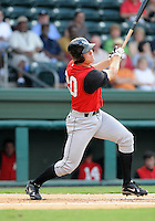 August 25, 2009: Infielder Jon Gilmore (20) of the Kannapolis Intimidators, South Atlantic League affiliate of the Chicago White Sox, in a game at Fluor Field at the West End in Greenville, S.C. Photo by: Tom Priddy/Four Seam Images