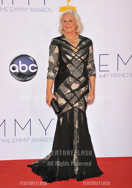 Glenn Close at the 64th Primetime Emmy Awards at the Nokia Theatre LA Live..September 23, 2012  Los Angeles, CA.Picture: Paul Smith / Featureflash