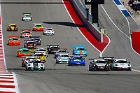 Porsche GT3 Cup Challenge USA<br /> Advance Auto Parts SportsCar Showdown<br /> Circuit of The Americas, Austin, TX USA<br /> Saturday 6 May 2017<br /> IMSA GT3 Race 2 Start<br /> World Copyright: Jake Galstad<br /> LAT Images