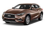 2016 Infiniti Q30 Premium 5 Door Hatchback Angular Front stock photos of front three quarter view