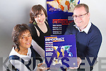 WORLD CHANGING GAME: Shahilah Janjha, Nina Lyons and John Loughrey from Rise Creatives in Tralee designed a new boardgame called Democracy.