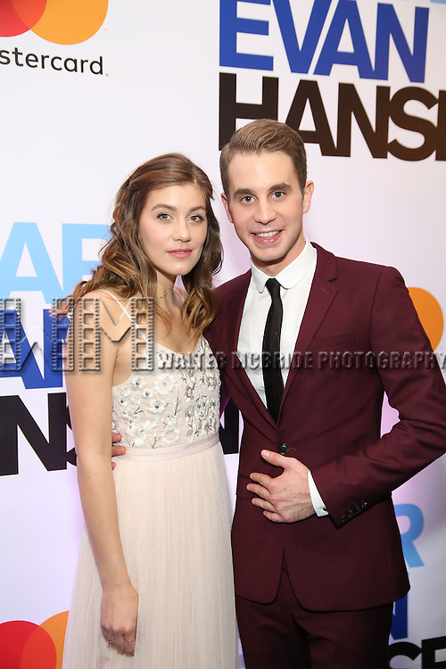 Laura Dreyfuss and Ben Platt attends the Broadway Opening Night After Party for 'Dear Evan Hansen'  at The Pierre Hotel on December 3, 2016 in New York City.