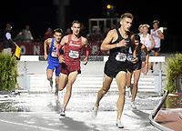 NWA Democrat-Gazette/CHARLIE KAIJO Kyle Levermore runs the mens steeplechase during the SEC track and field championships, Friday, May 10, 2019 at John McDonnell Field in Fayetteville.