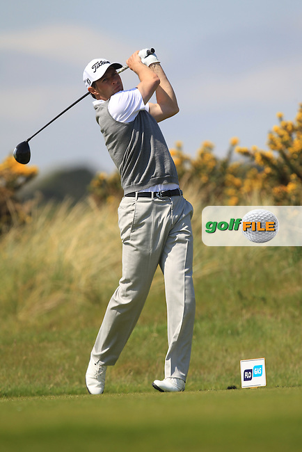 Robert Cannon (Balbriggan) on the 8th tee during Round 4 of the Flogas Irish Amateur Open Championship at Royal Dublin on Sunday 8th May 2016.<br /> Picture:  Golffile / Thos Caffrey