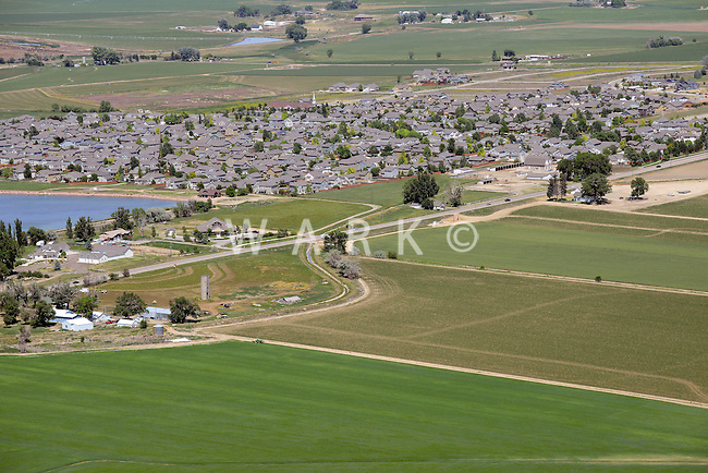 Aerial of Johnston, Colorado. June 2014