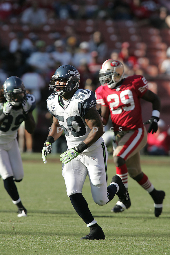 LANCE LAURY, of the Seattle Seahawks, in action against the San Francisco 49ers during the Seahawks game in San Francisco, ca on October 26, 2008. .. Seahawks   win 34-13