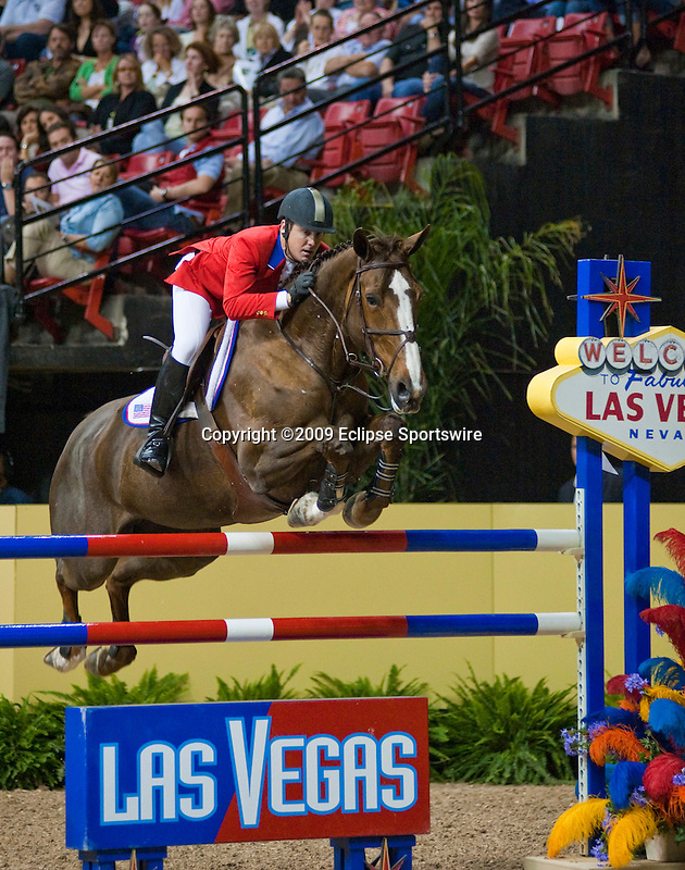 17 April 2009: McLain Ward (USA) and Sapphire at the Rolex World Cup Jumping Final II.