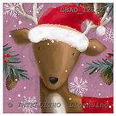 Addy, CHRISTMAS ANIMALS, paintings, GBAD121421,#xa# Weihnachten, Navidad, illustrations, pinturas