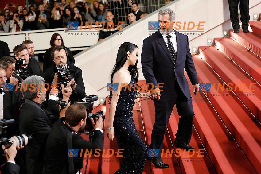 Mel Gibson et sa femme <br /> Cannes 21-05-2016 <br /> Festival del Cinema di Cannes 2016<br /> Foto Panoramic / Insidefoto
