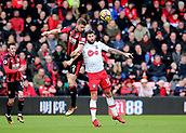 3rd December 2017, Vitality Stadium, Bournemouth, England; EPL Premier League football, Bournemouth versus Southampton; Simon Francis of Bournemouth wins a header against Charlie Austin of Southampton