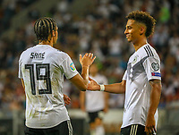 Torjubel Leroy Sane (Deutschland Germany) beim 8:0 mit Thilo Kehrer (Deutschland Germany) - 11.06.2019: Deutschland vs. Estland, OPEL Arena Mainz, EM-Qualifikation DISCLAIMER: DFB regulations prohibit any use of photographs as image sequences and/or quasi-video.