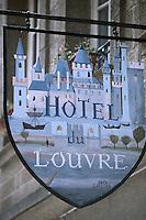Europe/France/Bretagne/35/Ille-et-Vilaine/Saint-Malo/Intramuros: Enseigne de l'Hotel du Louvre par Dan Laillier