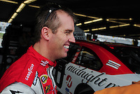 Feb 9, 2008; Daytona, FL, USA; Nascar Sprint Cup Series driver Jeremy Mayfield during practice for the Daytona 500 at Daytona International Speedway. Mandatory Credit: Mark J. Rebilas-US PRESSWIRE