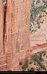 Spider Rock Ruins, Canyon de Chelly from Spider Rock Overlook, Anasazi Hisatsinom Cliff Dwellings, Canyon de Chelly National Monument, Navajo Nation, Chinle, Arizona