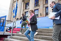 """#EuropaDemo von """"Pulse of Europe"""" am Sonntag den 5. Mai 2019 auf dem Berliner Gendarmenmarkt.<br /> Als Redenerin war u.a. Annegret Kramp-Karrenbauer, Bundesvorsitzende der CDU (im Bild), eingeladen.<br /> Rechts: Pulse of Europe-Vorstandsmitglied Dr. Alexander Freiherr Knigge.<br /> 5.5.2019, Berlin<br /> Copyright: Christian-Ditsch.de<br /> [Inhaltsveraendernde Manipulation des Fotos nur nach ausdruecklicher Genehmigung des Fotografen. Vereinbarungen ueber Abtretung von Persoenlichkeitsrechten/Model Release der abgebildeten Person/Personen liegen nicht vor. NO MODEL RELEASE! Nur fuer Redaktionelle Zwecke. Don't publish without copyright Christian-Ditsch.de, Veroeffentlichung nur mit Fotografennennung, sowie gegen Honorar, MwSt. und Beleg. Konto: I N G - D i B a, IBAN DE58500105175400192269, BIC INGDDEFFXXX, Kontakt: post@christian-ditsch.de<br /> Bei der Bearbeitung der Dateiinformationen darf die Urheberkennzeichnung in den EXIF- und  IPTC-Daten nicht entfernt werden, diese sind in digitalen Medien nach §95c UrhG rechtlich geschuetzt. Der Urhebervermerk wird gemaess §13 UrhG verlangt.]"""