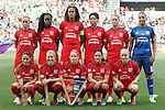 Olympique Lyonnais's team photo during UEFA Women's Champions League 2015/2016 Final match.May 26,2016. (ALTERPHOTOS/Acero)